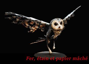 Visitez la galerie des sculptures en fer, étain et papier mâché de Thierry Chollat