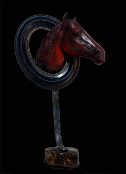 Cheval rouge Autoportrait ©Thierry Chollat