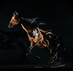 Cheval - Thierry Chollat scupture Isère France
