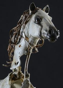 Andalou - Sculpture en fer, étain, papier mâché. Thierry Chollat sculpture Isère France