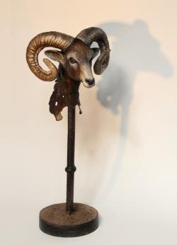 Mouflon Fer, papier et étain ©Thierry Chollat