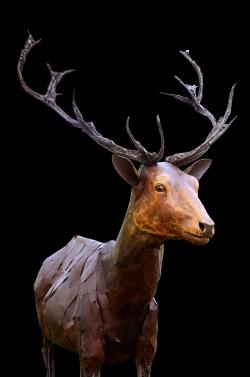 Fer et bois (thuya) - 195x235x112 cm- Conçu pour résister en extérieur ©Thierry Chollat