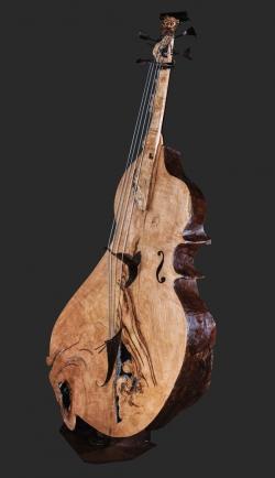 Contrebasse Fer et bois chataignier. Interprétations d'instruments de Musique ©Thierry Chollat
