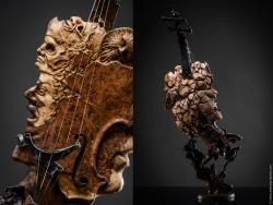 Dualités - Violon Fer et bois (loupe d'orme) Interprétations d'instruments de Musique ©Thierry Chollat
