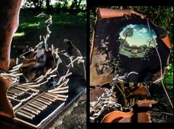 Évanescence. Clavecin fer et bois (Epicéa) L107xH198xl175 Interprétations d'instruments de Musique ©Thierry Chollat