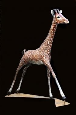 Giragon Fer et bois (thuya) - échelle 1 - Conçu pour résister en extérieur ©Thierry Chollat