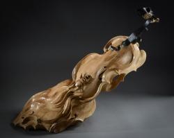 Infinitude Violons en fer et bois(Tilleul) L68xH62xl24,5cm Interprétations d'instruments de Musique ©Thierry Chollat