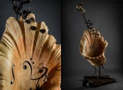 L'écrin de l'onde éclose - Thierry Chollat, sculpteur, Isère, France, instruments