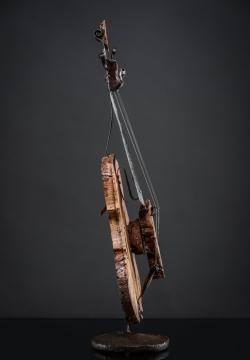 Violon, Fer et bois (loupe de chêne) Interprétations d'instruments de Musique ©Thierry Chollat