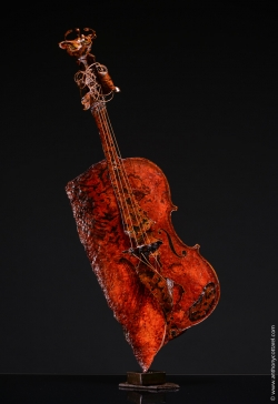 Violon, fer et papier. Interprétations d'instruments de Musique ©Thierry Chollat