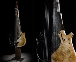 Violoncelle fer et bois Interprétations d'instruments de Musique ©Thierry Chollat